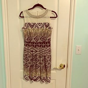 Tribal Print Black and White Dress
